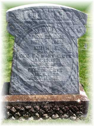 Buried - Howe Cemetery - Nemaha County, Nebraska